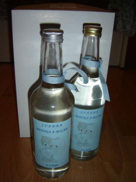Monika a Milan - fľaštičky