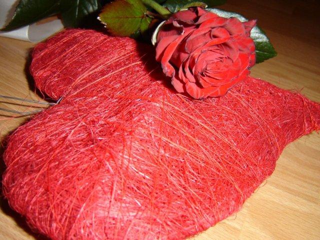 Monika a Milan - srdce na stenu s ružičkou od drahého