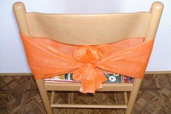 Výzdoba židlí - oranžová...