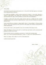 dopis pro svatební hosty