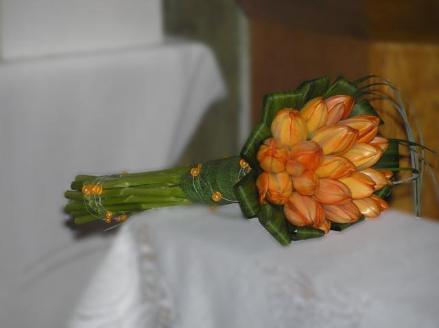 Svadobna kytica z tulipánov - Obrázok č. 5