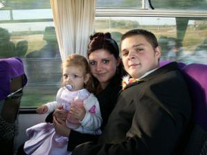 dcérka cestovala autobusom