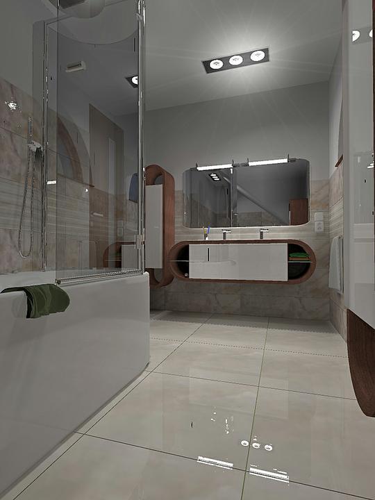 Kupelne a kupelnicky - oble okno, vana, nabytok, zrkadlo......