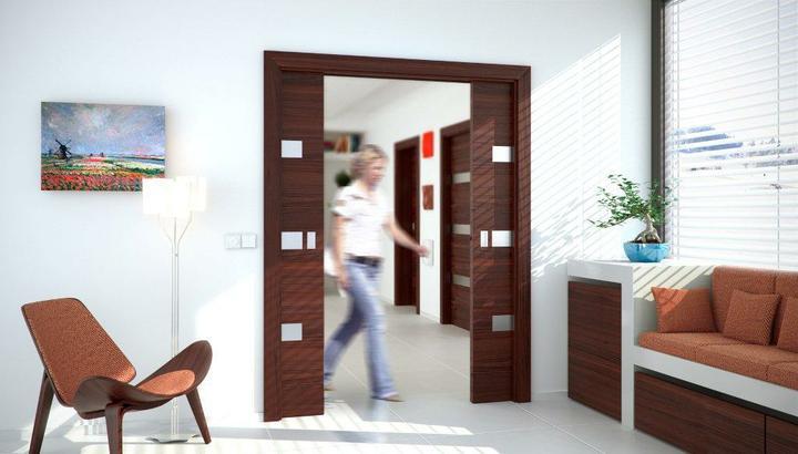 Dvere, co nezaberaju miesto - zasuvacie do stavebneho puzdra inspiracia pre @evaa.s - stavebne puzdra J.A.P. Komfort pre  pre 2 jednokridlove posuvne dvere do murovanych aj sadrokarton priecok