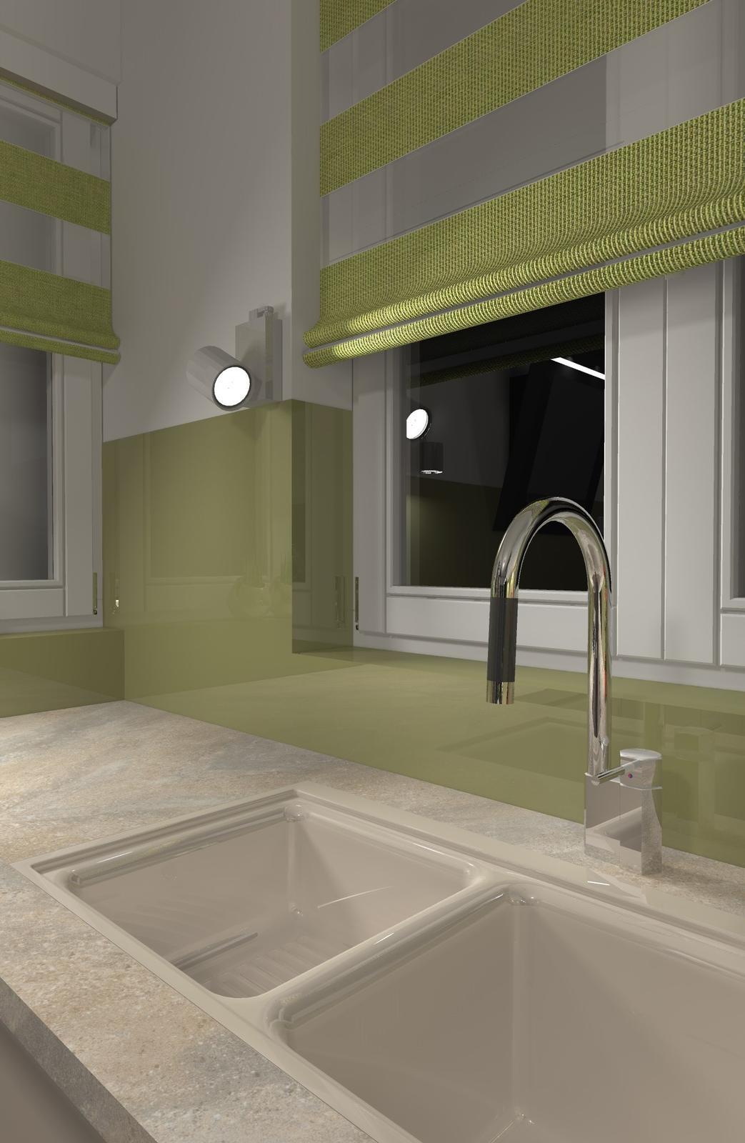 Kuchyne nielen do panelakovych bytov - aby bolo vidno aj vecer, je vedla okna nastenne svetlo
