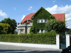 """dom v Martine  """"oblečený"""" v zelenom kabáte"""