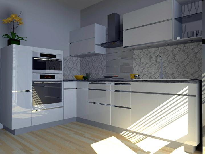 Kuchyne nielen do panelakovych bytov - mozno sa zda biela so sedou chladna, ale....