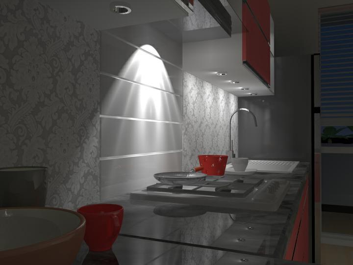 Kuchyne nielen do panelakovych bytov - Musela tu ostat nedavno kupena  chladnicka...