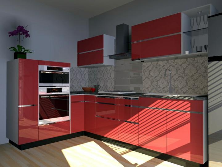 Kuchyne nielen do panelakovych bytov - cervena povzbudzuje chut do jedla