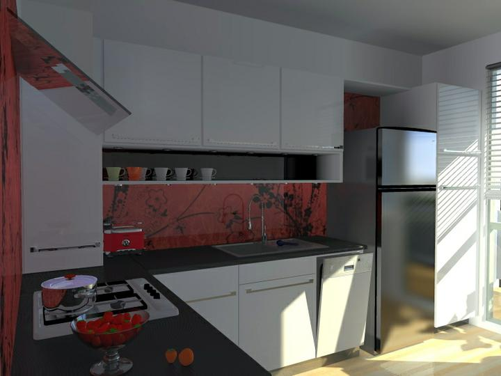 Kuchyne nielen do panelakovych bytov - spajzova skrina je tiez na povodnom mieste, prakticke je jej odvetranie existujucimi otvormi v panele