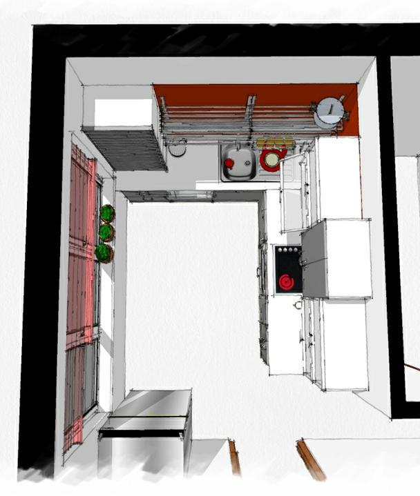 Kuchyne nielen do panelakovych bytov - dalsia panelakova este viac zmensena prestavbou kupelne