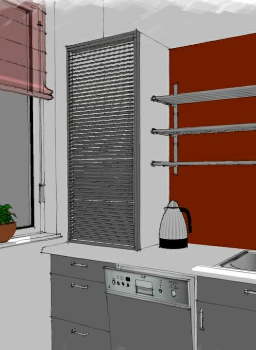 Kuchyne nielen do panelakovych bytov - prisposobovanie sa oknu