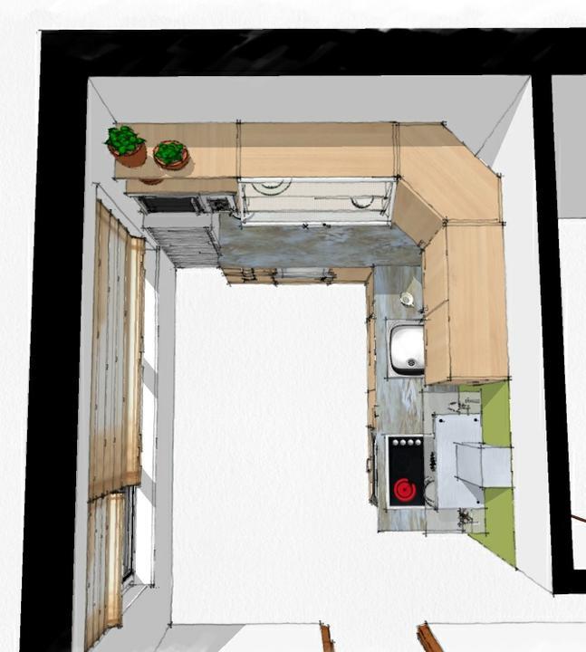 Kuchyne nielen do panelakovych bytov - kratsia vodovodna pripojka