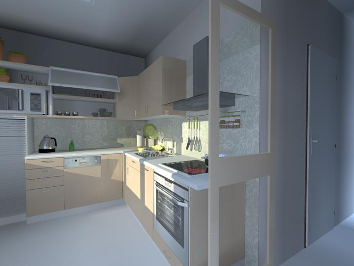 Kuchyne nielen do panelakovych bytov - jemnejsie farby