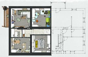 """druhé poschodie - tento byt, čo vznikol z """"cimričiek"""" je priestrannejší"""