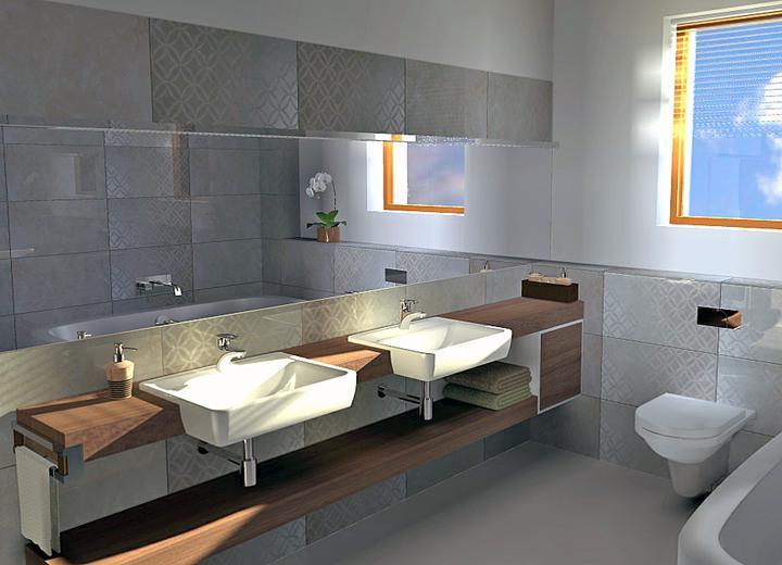 Polozapustené umývadlá sa mi zdali vhodnejšie, lebo doska je užšia a okolo WC (ktoré by som určite nenavrhla na čelnú stenu) je viac miesta