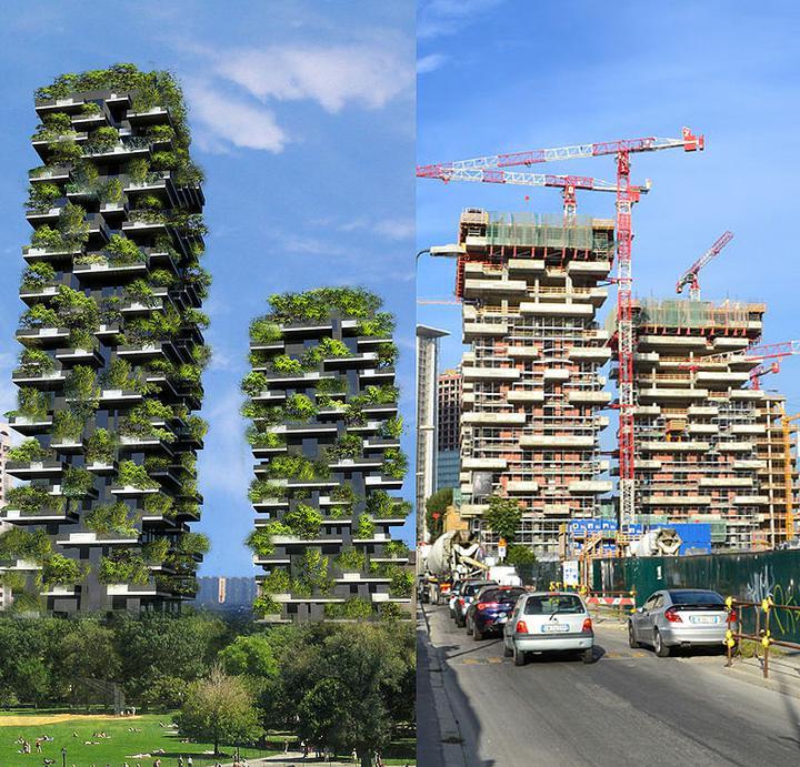 Zelene fasady - Bosco Verticale vyrastlo uprostred Milana