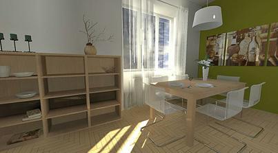 jedáleň - spojka izby a kuchyne