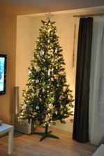 1. vianoce v novom domčeku....  zeleno- strieborné