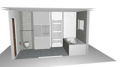 medzi WC a radiatorom by som chcela vstavanu skrinu v rovnakej farbe ako umyvadlova skrinka