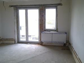 Detská izba, aj tu je už radiator posunuty nižšie