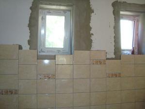 dokončiť okolo okien a vyšpárovať a môžme montovať kuchynskú linku :-)