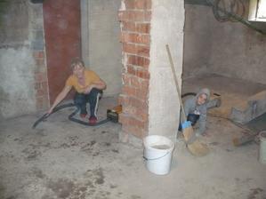 Pivnica-príprava na vyrovnanie podlahy