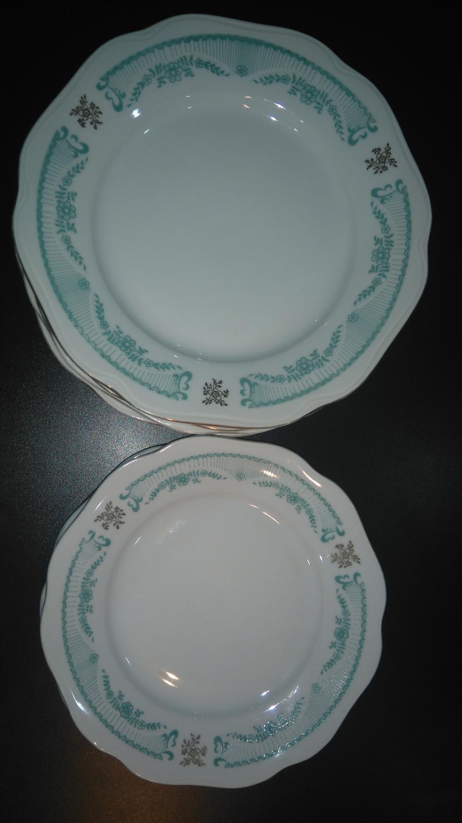 zelené porcelánové taniere - Obrázok č. 1