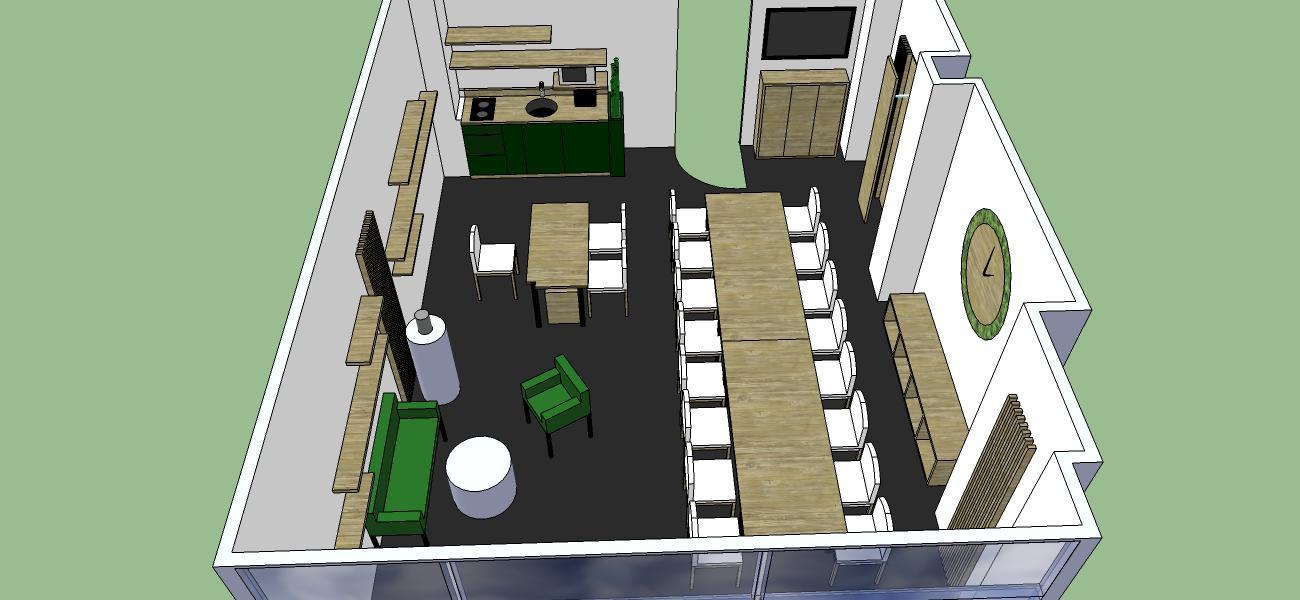 návrh kancelárie