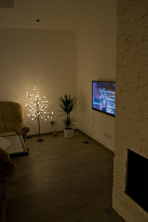 Sweet home :) - stormeček - lampa od manžela k Vánocům :)