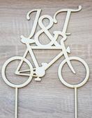 Zápich bicykel s iniciálkam,