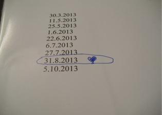tento datum sme zmenili na 6.4.2013