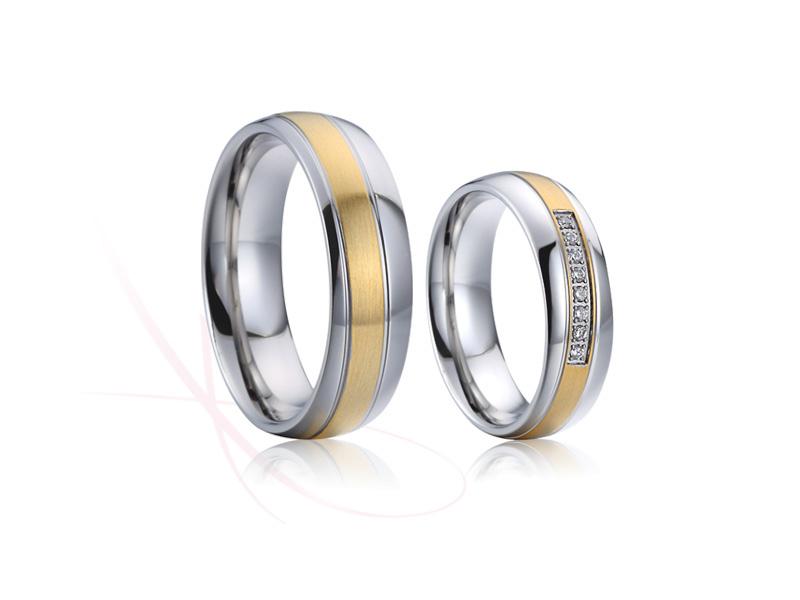 nové ocelové snubní prsteny - č. 020 - 2990 Kč