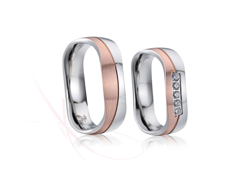 nové ocelové snubní prsteny - č. 021- 3190 Kč
