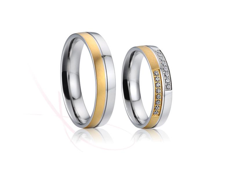 nové ocelové snubní prsteny - č.022 - 2990Kč