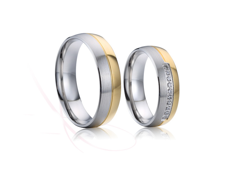 nové ocelové snubní prsteny - č.023 - 2790 Kč
