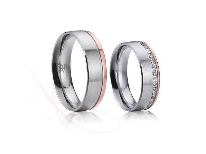 nové ocelové snubní prsteny - č. 024 - 3690 Kč