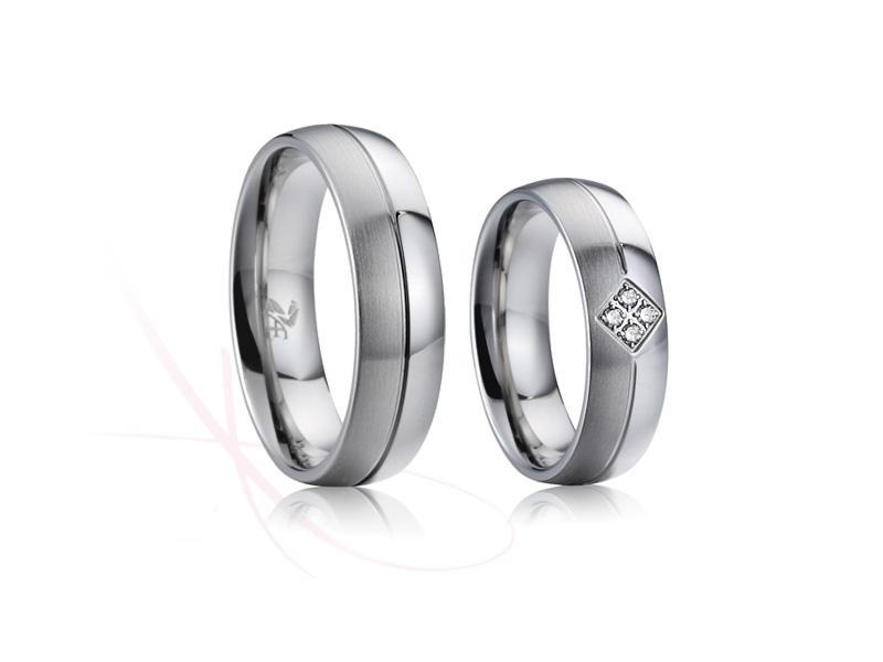 nové ocelové snubní prsteny - č.025 - 1590 Kč