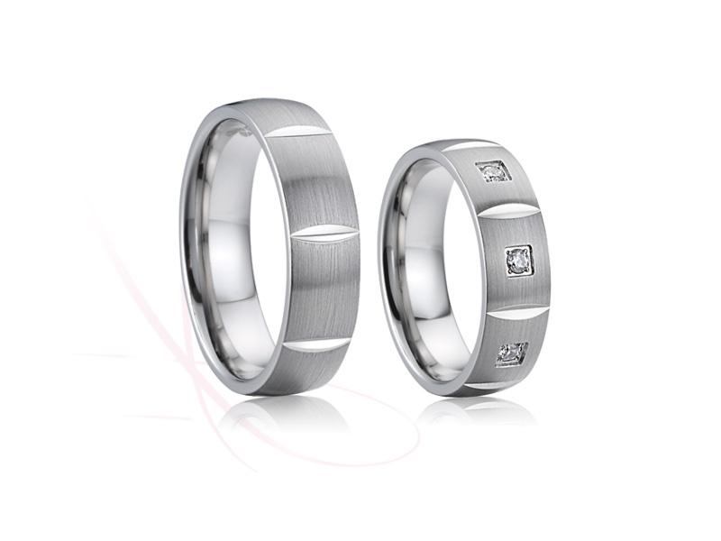 nové ocelové snubní prsteny - č. 026 - 1990 Kč