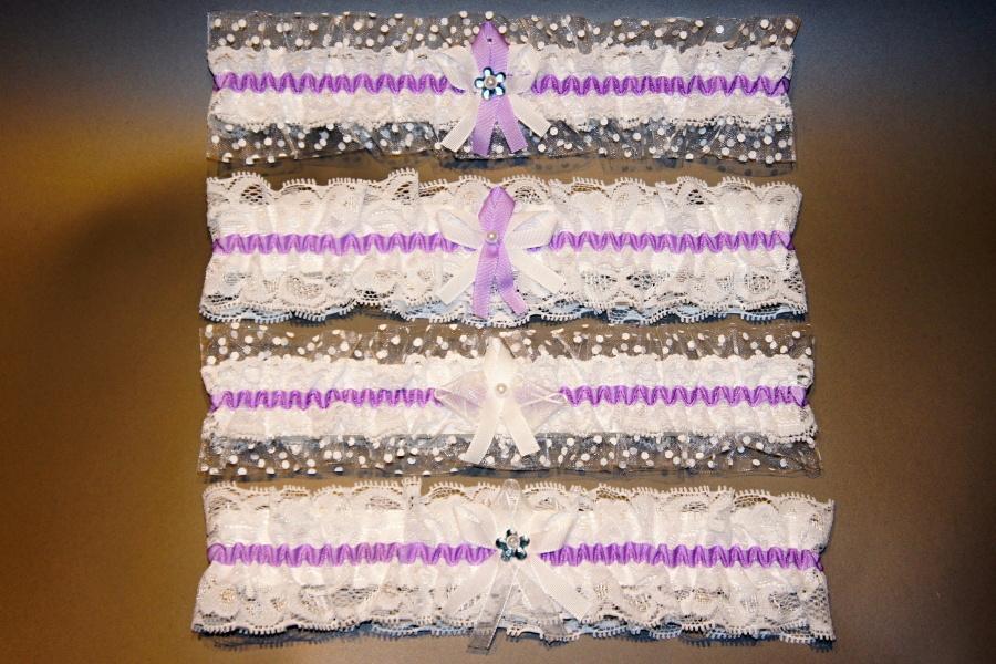 Svatební podvazky do fialova - Obrázek č. 4