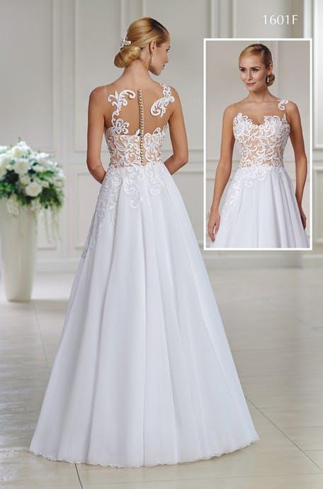 Na letní svatby lehké šifonové sukně s krajkovým živůtkem. Stačí si jen přijít vybrat. - Obrázek č. 1
