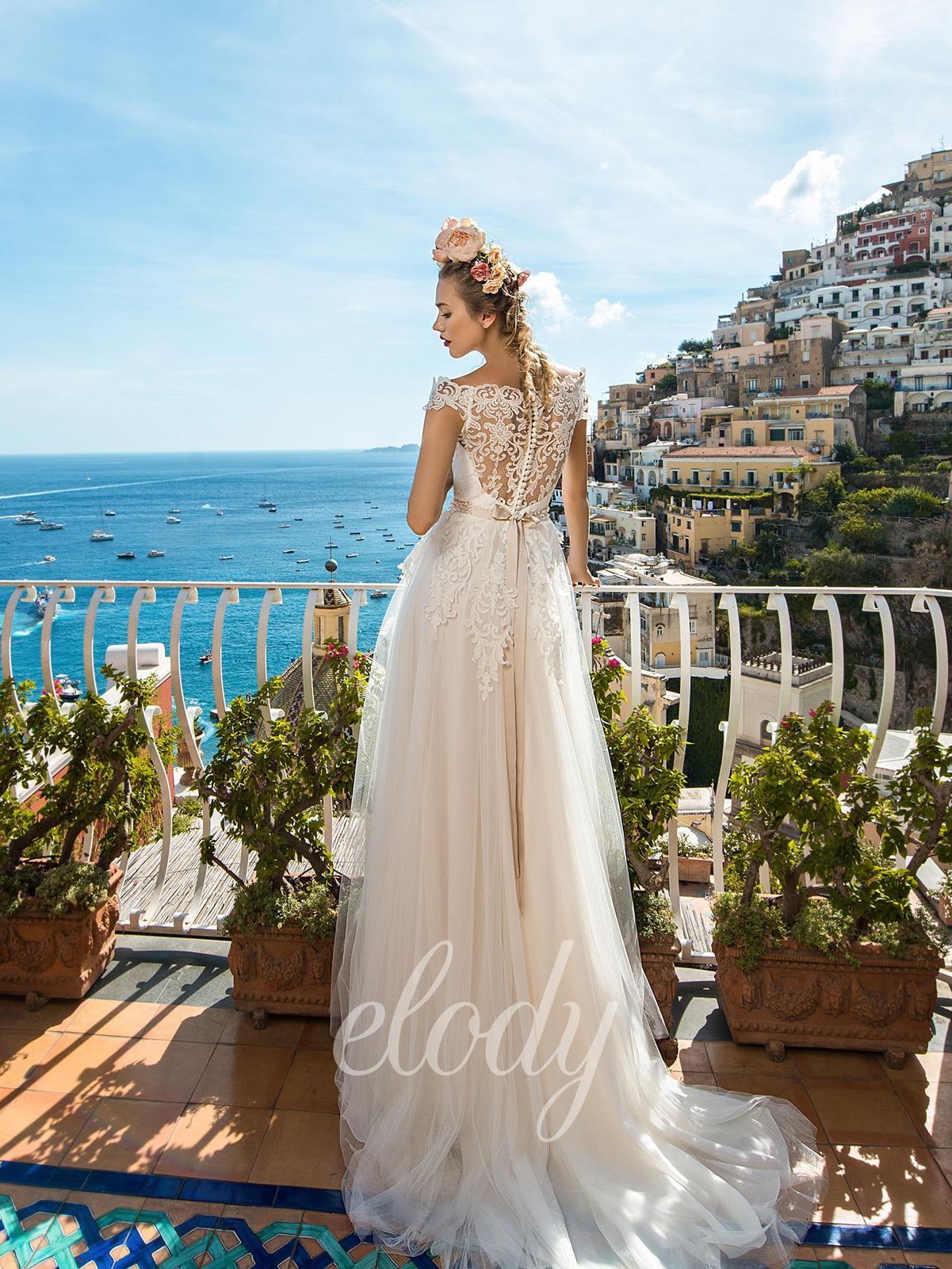 Na prodej krásné, jednou použité svatební šaty zn.ELODY ve vel. 40. Prodejní cena 8400 Kč. Budete-li mít o tyto šaty zájem, zavolejte a domluvíme se na termínu - Obrázek č. 2