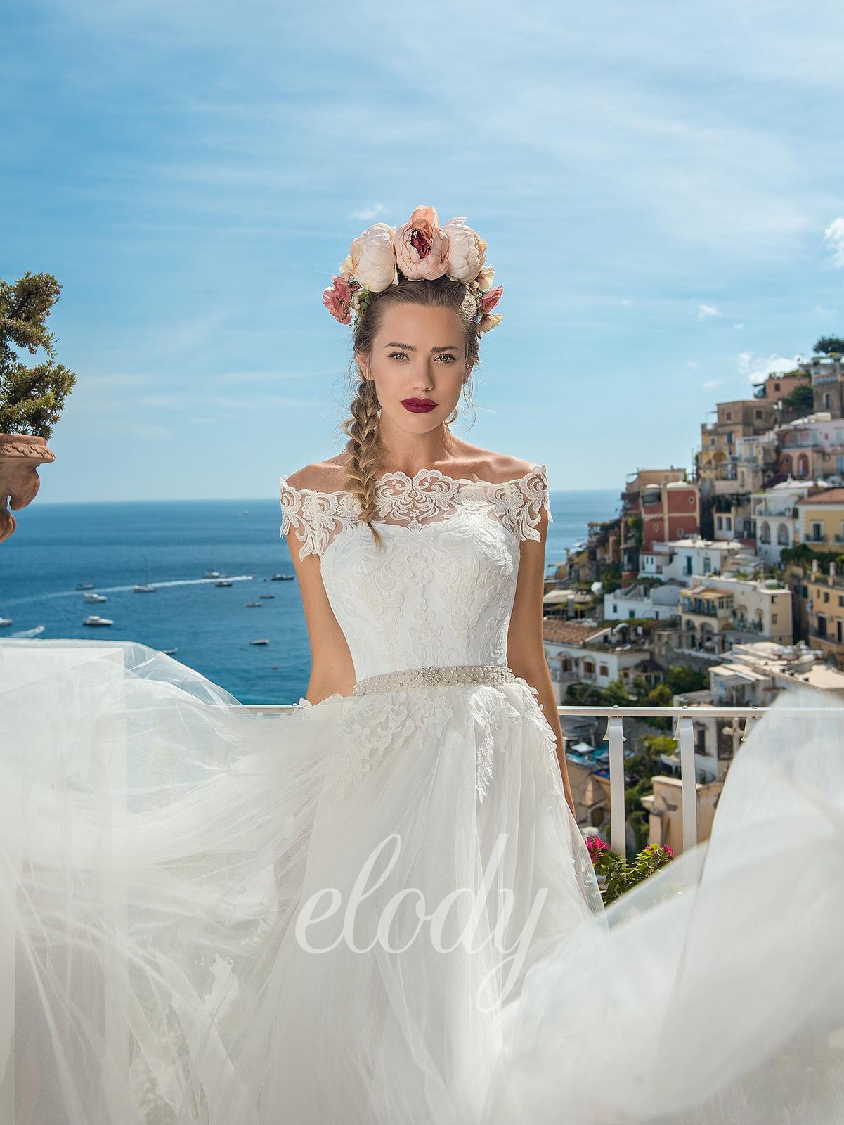 Na prodej krásné, jednou použité svatební šaty zn.ELODY ve vel. 40. Prodejní cena 8400 Kč. Budete-li mít o tyto šaty zájem, zavolejte a domluvíme se na termínu - Obrázek č. 3