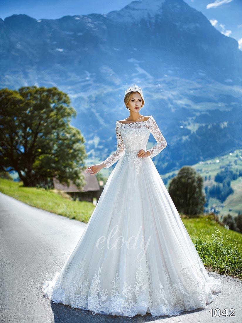 Svatební šaty zn.Elody ve vel 38 - 40 , prodejní cena je 10000 Kč. - Obrázek č. 1