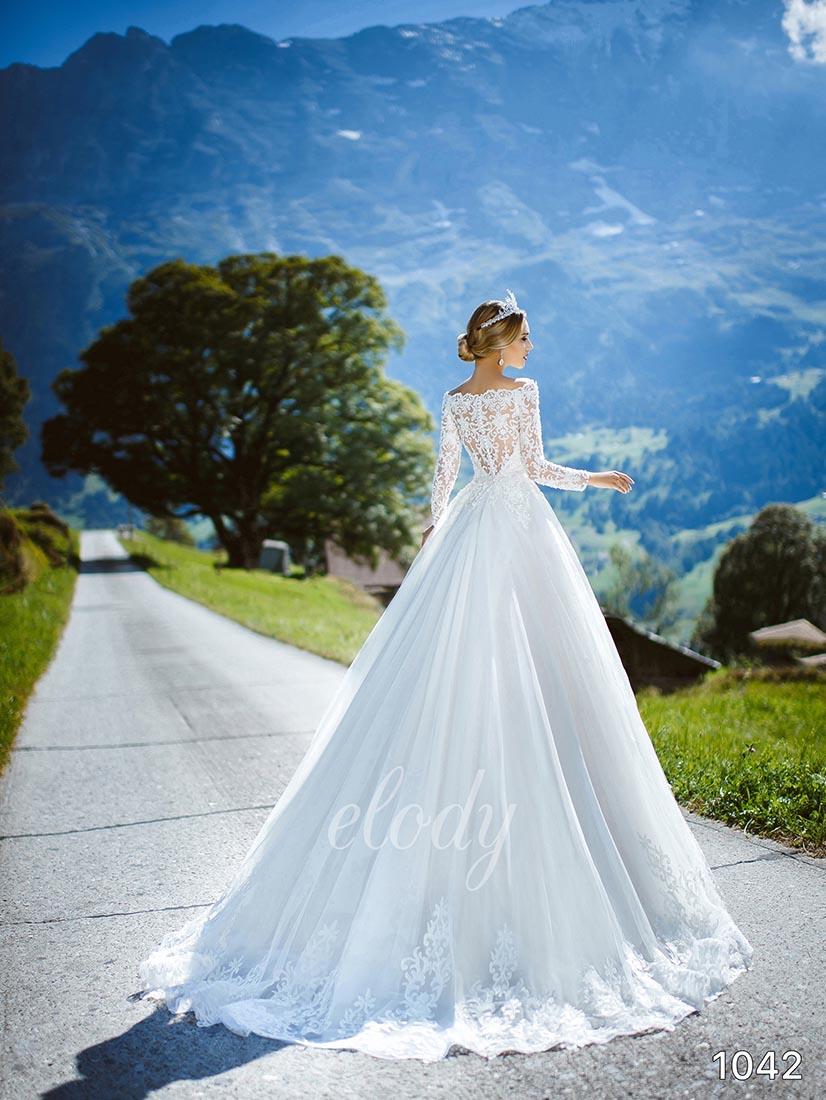 Svatební šaty zn.Elody ve vel 38 - 40 , prodejní cena je 10000 Kč. - Obrázek č. 2