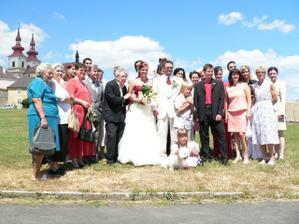 Společné fofo s rodinou