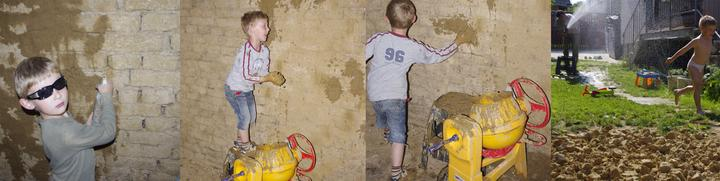 Z difúzne otvorenej steny ostala miestami stena s vysušenou? teda žiadnou maltou...Stena sa po navlhčení došpárováva ...