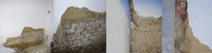 Surprise dnešného dňa, nepreviazané 2 steny a pod suchou 1 m vysokou cementovou omietkou zasolená stena ...