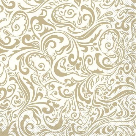 Krémovo-zlaté servítky 40x40 - Obrázok č. 1