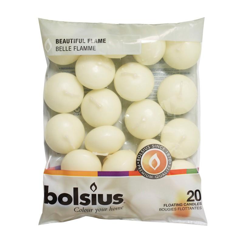 Plávajúce sviečky značky Bolsius 20 kusov - Obrázok č. 1